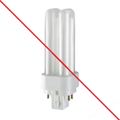 lampe fluocompacte 2 broches